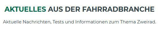 Fahrradbranche für  Frankenhardt