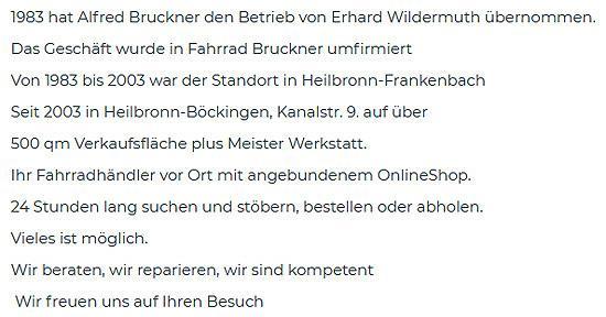fahrrad shop in 97956 Werbach