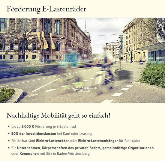 Förderung E-Lastenräder